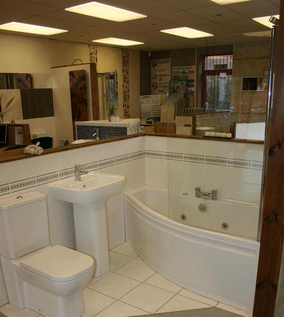 The showroom bathrooms
